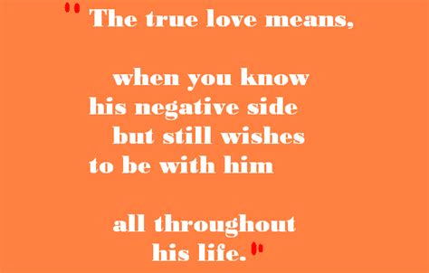 sweet love quotes    true love means love