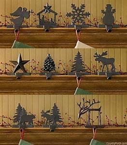 Iron Christmas Stocking Hanger Holder