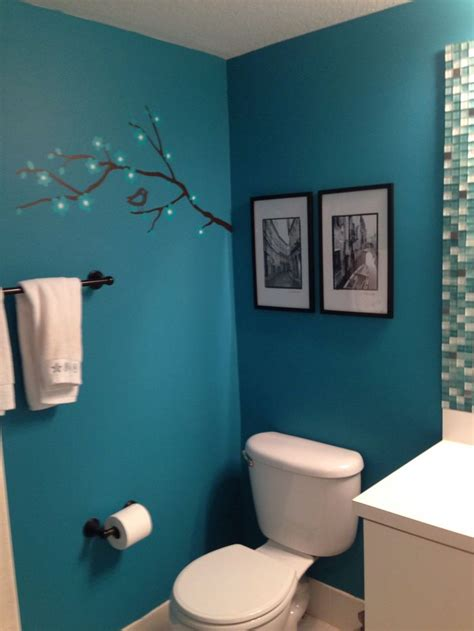 teal bathroom bathrooms accessories colors paint aqua turquoise wall schemes decor whites downstairs walls would para brown banos decorations inspiration
