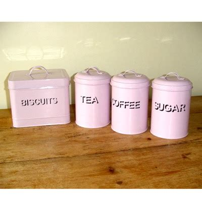 pink kitchen canisters set tea coffee sugar and biscuit canisters pink kitchen