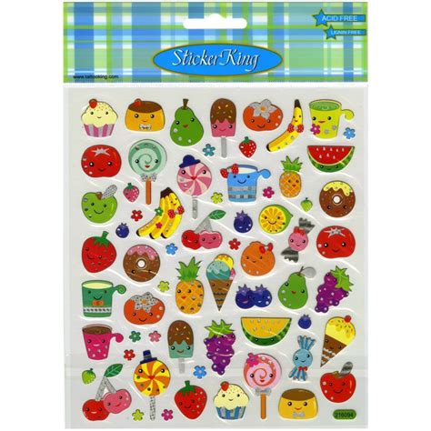 scrapbooking cuisine scrapbooking crafts stickers sticker king food faces fruit