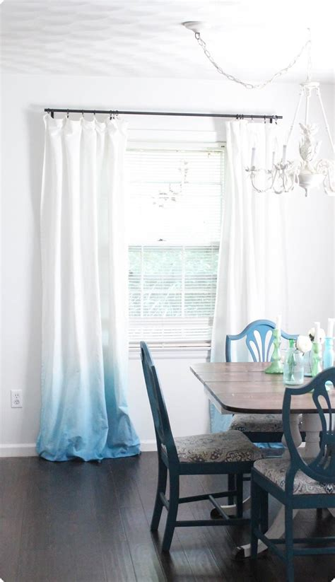 blue ombre curtains diy blue ombre curtains lovely etc