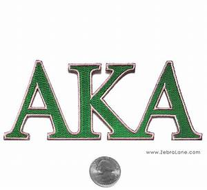 aka greek letters patch large zebra lane With aka greek letters