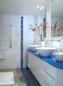 Carrelage Salle De Bain Couleur : peinture salle de bains pour agrandir l 39 espace restreint ~ Melissatoandfro.com Idées de Décoration