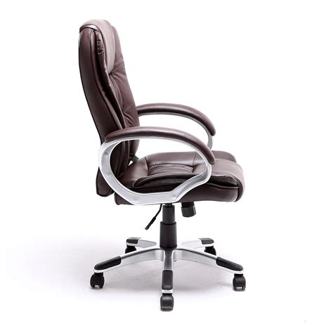 black brown white pu leather modern executive computer