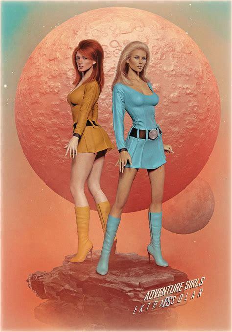 epingle par olivier coignoux art sur space girls art