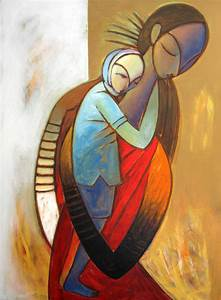 Buy Painting Mother And Child Artwork No 3942 by Indian ...