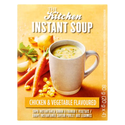 kitchen chicken vegetable flavoured instant soup