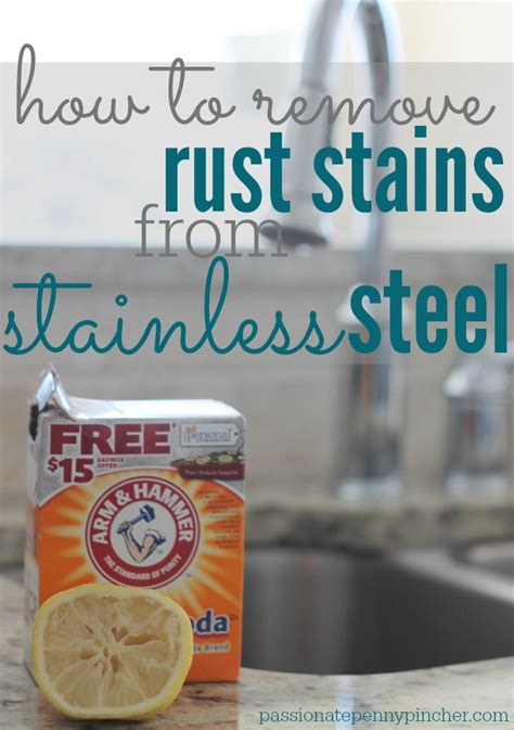 how to remove rust stains from sink how to remove rust stains from stainless steel freshen