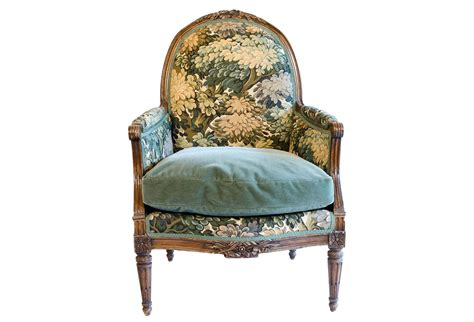 Antique French Armchair Upholstered With Old World Weavers