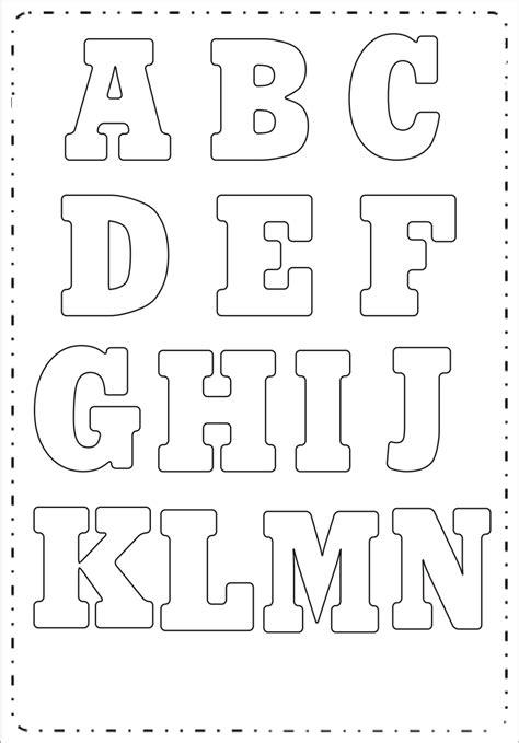 moldes de letras grandes para imprimir letras retas