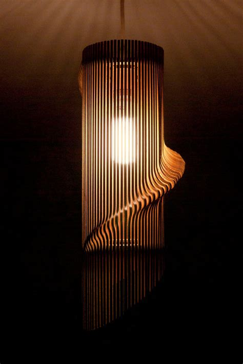 laser cut l shade twisted lasercut wooden lshade no 1