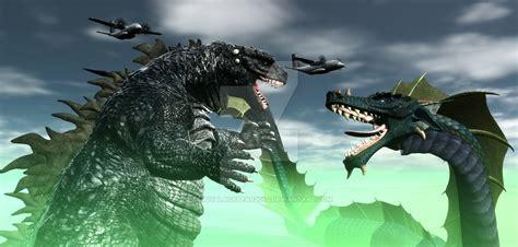 Godzilla Vs Manda By Teddyblackbear2040 On Deviantart