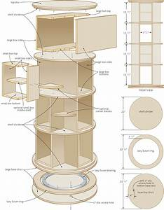 Woodwork Revolving Bookcase Plans PDF Plans
