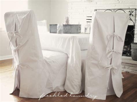 custom shabby chic parsons dinning chair covers  white