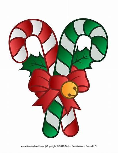 Decorations Clipart Xmas Christmas Candy Printable Cane