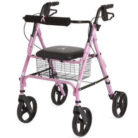 lightweight medline rollator walker with seat active