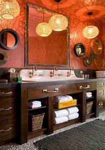 1000 ideas about burnt orange bathrooms on pinterest With kitchen cabinets lowes with coca cola wall art