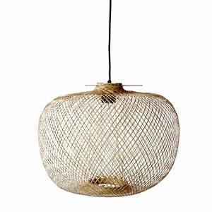 Lampe Suspension Ikea : lampe suspension bambou naturel 42xh30cm bloomingville petite lily interiors ~ Teatrodelosmanantiales.com Idées de Décoration