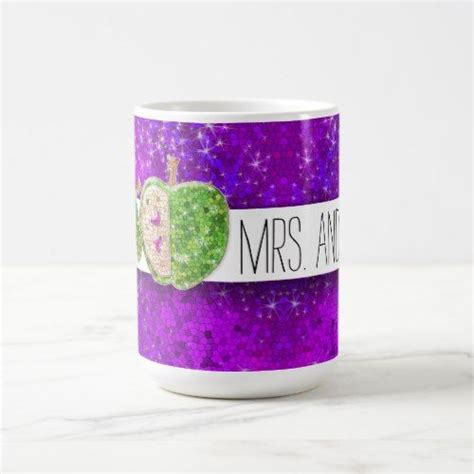 This video tutorial goes over each step of glittering a coffee mug from start to finish.i cover the following in this video:applying mod podge and. Hot Pink Green Teachers Apple Purple Glitter Coffee Mug ...