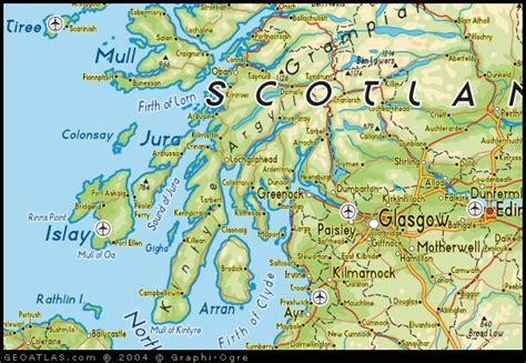 Scotland Map Region Area