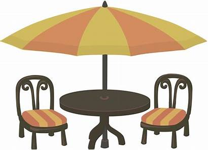 Cafe Clipart Seating Clip Drawing Transparent Chairs
