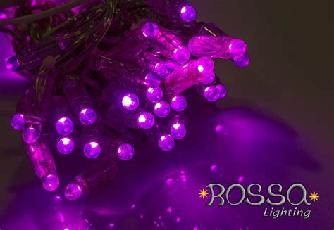 string lights purple string lights leds clear cable