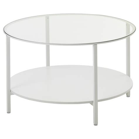 white glass coffee table vittsjö coffee table white glass 75 cm ikea