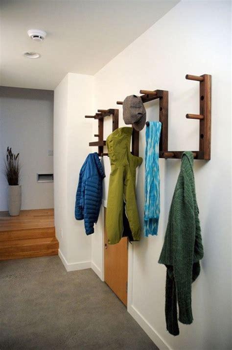kreative ideen fuer garderobe im flur zum selbermachen