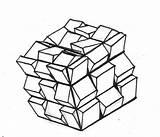 Cube Drawing Rubiks Template Getdrawings sketch template