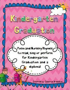kindergarten graduation poem nursery rhymes diploma