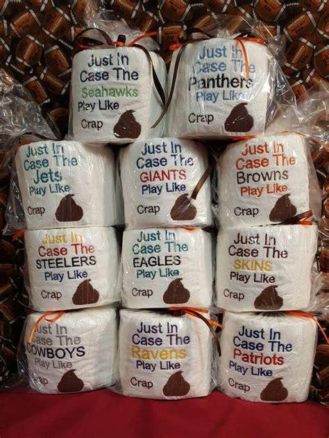 football gag gift toilet paper gag gift  white