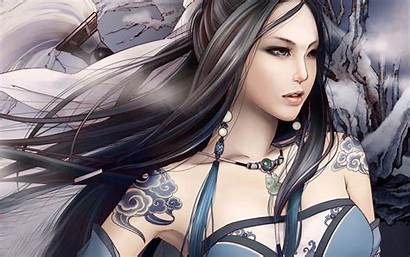 Fantasy Anime Female Warrior Wallpapers Chinese Wallpapers9