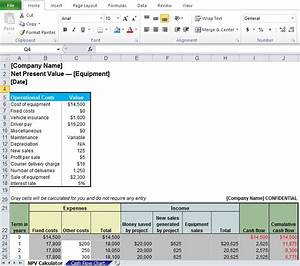 professional net present value calculator excel template With excel net present value template