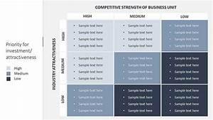 Hierarchy Template Ge Mckinsey 9 Box Matrix Slide Ocean