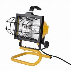 Utilitech light watt halogen portable work at lowes