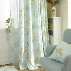 lime green floral print velvet long country curtains