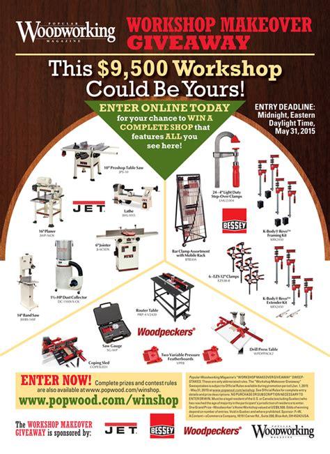 popular woodworking workshop makeover giveaway