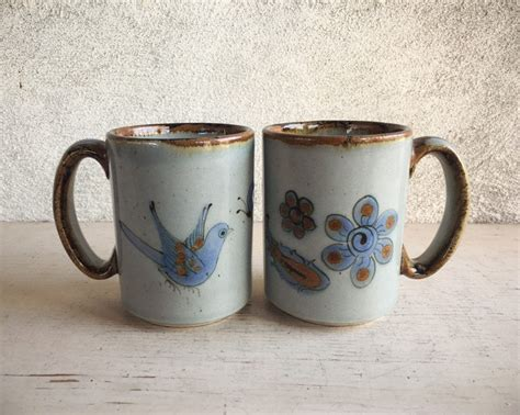 Designed to simultaneously insulate and retain heat, our porcelain espresso cups keep your coffee at its best. Pair of Vintage El Palomar Ceramic Coffee Mugs, Tonala Pottery Coffee Cups, Ken Edwards Mexican ...