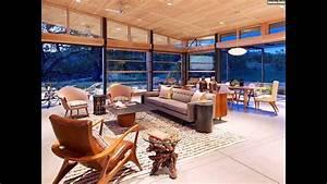 Fenster Modern Gestalten : wohnzimmer gestalten modern holz akzente raumhohe fenster youtube ~ Markanthonyermac.com Haus und Dekorationen