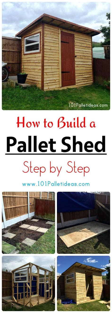 build  pallet shed step  step easy pallet ideas