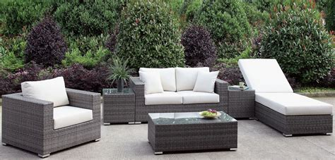 Outdoor Living Furniture by Somani Gray And Ivory Outdoor Living Room Set From
