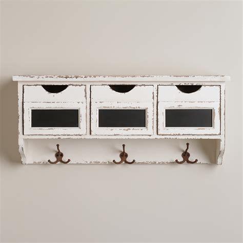 cubby shelf with hooks 3 slot hook wall cubby world market