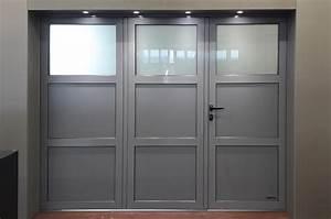porte de garage pliante 3 vantaux manuelle atlantic With porte de garage enroulable avec porte de garage accordéon pvc
