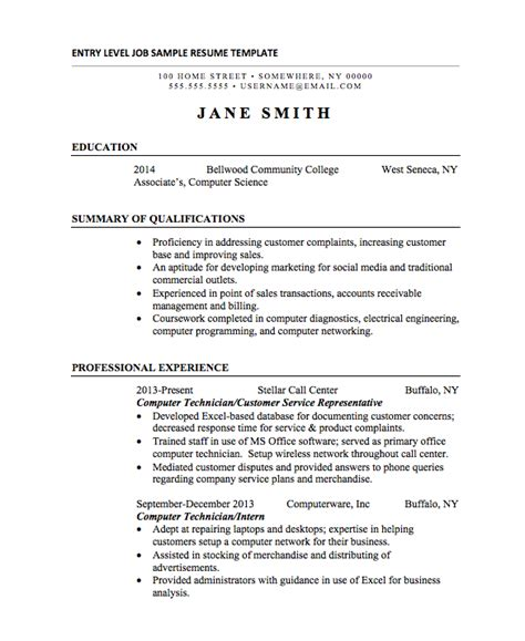 Internship Resume Template by 21 Basic Resumes Exles For Students Internships