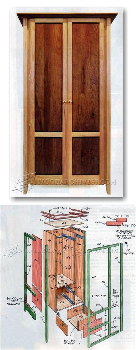 build armoire furniture plans  projects