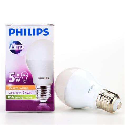 philips e27 led bulb warm white 5w