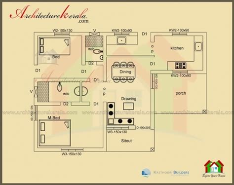 inspiring   square feet house plan  elevation