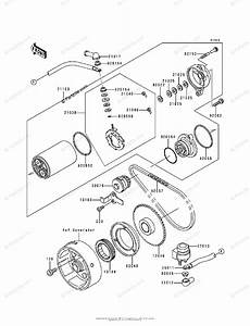 Kawasaki Atv 1999 Oem Parts Diagram For Starter Motor