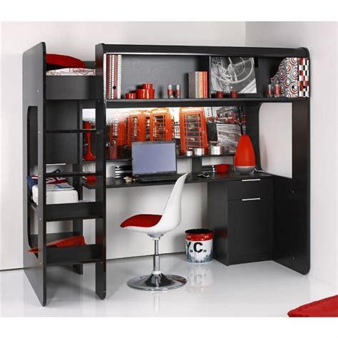 lit surélevé avec bureau intégré olympia lit mezzanine surélevé achat vente lits